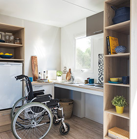 Adapted rental PMR camping Ardèche