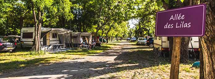 Camping met staanplaatsen in de Ardèche