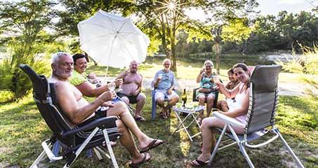 Kampeerplaatsen voor campers in de Ardèche