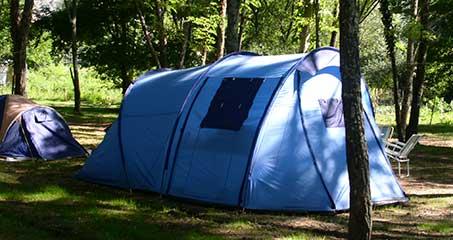 Overnachting in een tent in de Ardèche