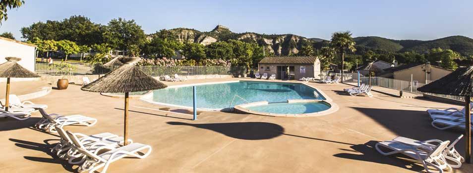 Camping met zwembad in de Archède