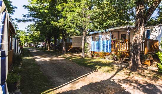 Campingplatz in der Ardèche