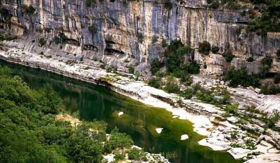 Canyon calcaire Ardèche
