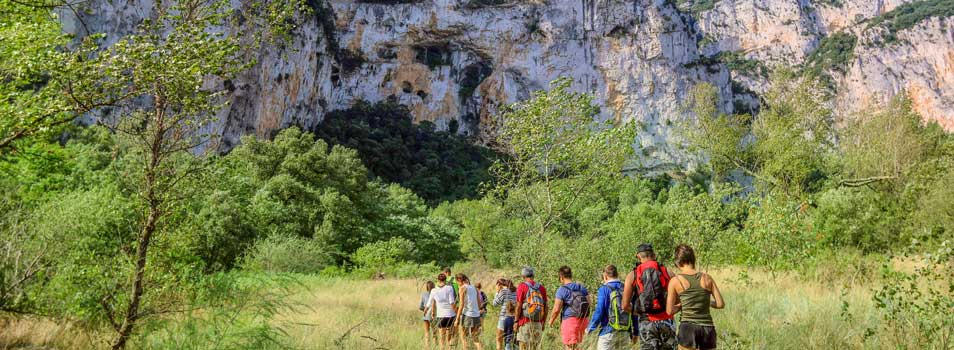 activity campsite walk ardeche