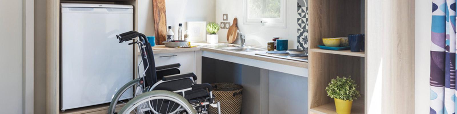 camping adapté au fauteuil roulant